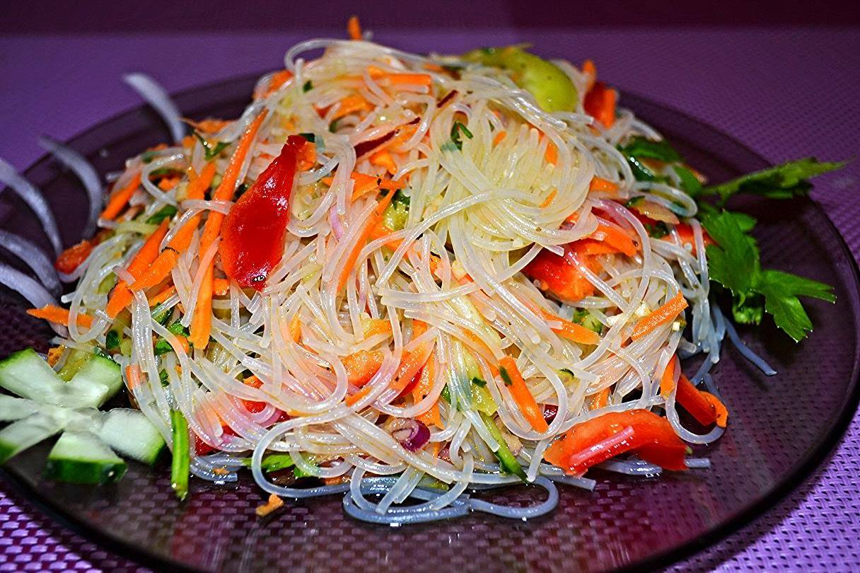 Фунчоза с курицей и овощами ТОП лучших рецептов салата с фото пошагово