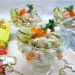 Новогодний салат «Креветки с авокадо»