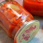 Перец в томатном соке на зиму, рецепт пошаговый с фото без  стерилизации: маринованный, сладкий